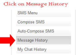 Click on Message History